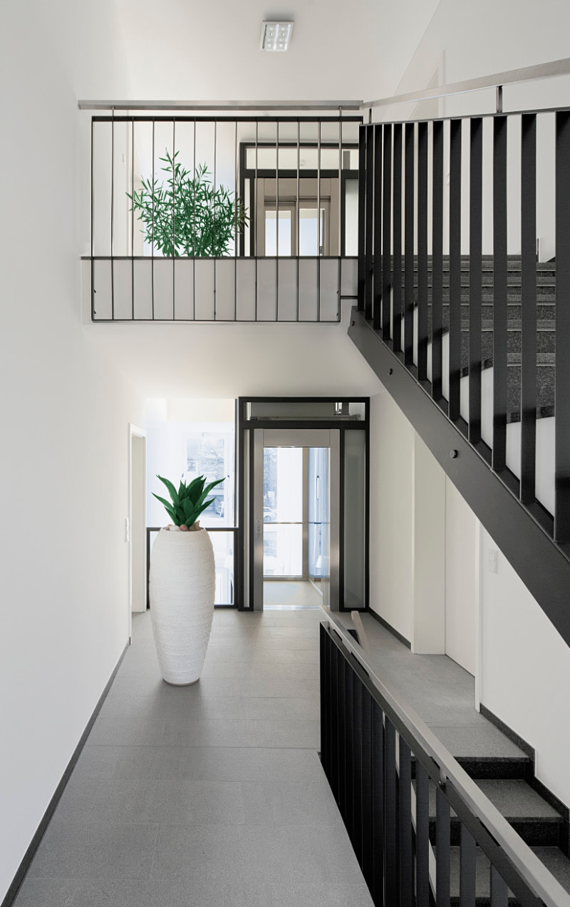 Staircase and hallway in modern house